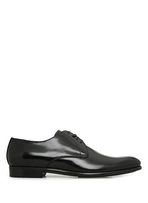Dolce&Gabbana %100 Deri Bağcıklı Klasik Ayakkabı Siyah
